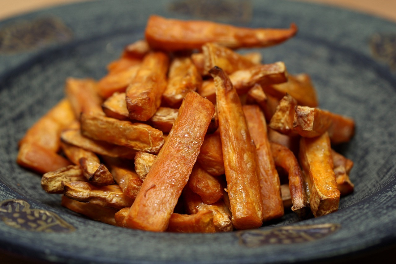 Yam Fries in the Oven