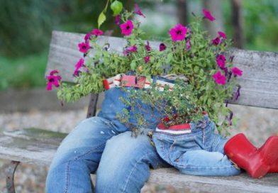 flowers in pants